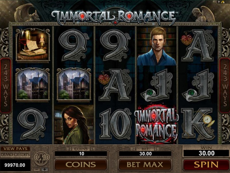 Immortal Romance Slot screenshot 2